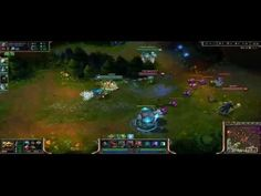 League of Legend Rammus get ambush by other 4 heroes
