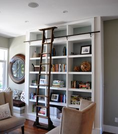 I would love a bookshelf with a ladder!