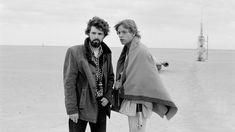 George Lucas en el rodaje junto a Mark Hamill.