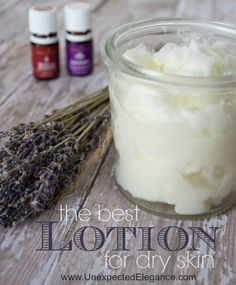 If you have really dry skin this is THE BEST LOTION! It is made using essential oils that help restore your skin. I can't live without it.