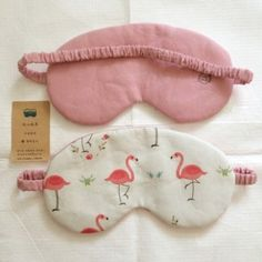 hanmade flamingo pattern sleep eye mask