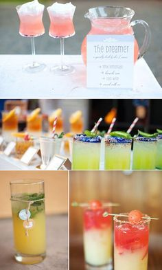 Wedding Cocktail Ideas! Lots of amazing ideas for wedding cocktails!   Yes Baby Daily