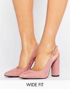 New Look Wide Fit Sling Back Court Heel