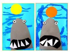 Requins ! Pirate Art, Mermaid Crafts, Vincent Van Gogh, Beach Party, Toddler Activities, Costa Rica, Art Lessons, Creations, Summer