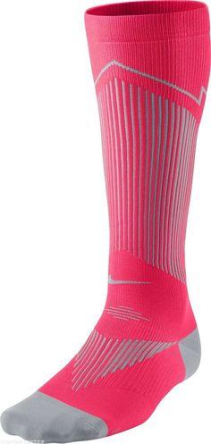 Nike Elite Compression OTC Running Socks SX4886 600 4 - 5.5 Men 5.5- 7 Womens