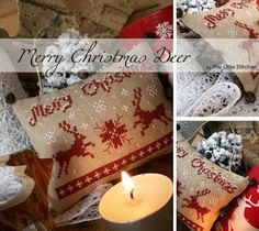 Free Cross Stitch Pattern: The Little Stitcher: Merry Christmas Deer