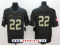 Men s Carolina Panthers  22 Christian McCaffrey Black Anthracite 2016  Salute To Service Stitched NFL Nike 4d9698ebc