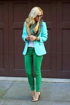 Verde y menta