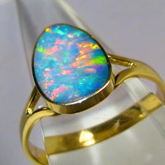 This incredible quality opal inlay on black boulder ring has been handcrafted (by me) with the finest quality gem Coober Pedy crystal opal, mined on the Opal Valley field 50km south of Coober Pedy South Australia. | eBay!