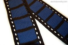 PATTERN  The Film Geek Filmstrip Scarf PDF Data
