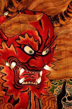 Big float of Nebuta Festival in Japan