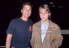 Actor Rob Lowe and actor Chad Lowe attend Allan Carr Hosts a Pre-Oscar Cocktail Party for the Annual Academy Awards on March 1989 at the Shrine Auditorium in Los Angeles, California. Get premium, high resolution news photos at Getty Images Chad Lowe, Rob Lowe, Chris Traeger, The Family Stone, Hate Men, Lowes, Vintage Photos, Actors & Actresses, Hot Guys