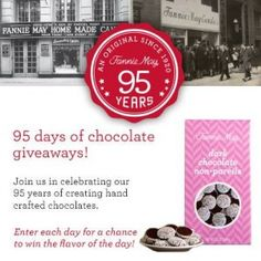 Enter to win Fannie May dark chocolate non pareils