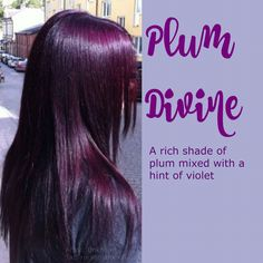 hair color purple plum fall Ideas hair color purple plum fall Ideas Short red hair color ideas page 13 Violet Hair Colors, Hair Color Purple, Cool Hair Color, Brown Hair Colors, Plum Violet Hair, Dark Purple, Mulberry Hair Color, Pelo Color Vino, Plum Brown Hair