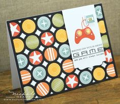 Game on card using a cover plate die