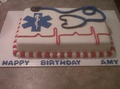 EMT cake-wow, it even has my name on it!