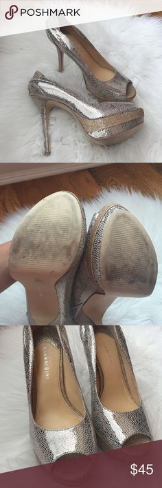 Stunning Gianni Bini heels size 8 These have been worn but are still in wonderful condition! Absolutely gorgeous! Gianni Bini Shoes Heels