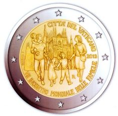 2 Euro Commemorative Coins Vatican City 2012 World Meeting of Families