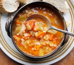One bowl of this soup is only 146 calories - Meat-Free Scotch Broth Recipe for the 5:2 Fast and Feast Diet