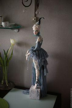 """Купить кукла """"Голубой Графит"""" - синий, графитовый, графит, голубой, кукла ручной работы, кукла"""