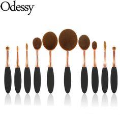 New 10pcs Toothbrush Makeup Brushes Set Multipurpose Make up Brush kit oval professional foundation cosmetic tool maquiagem