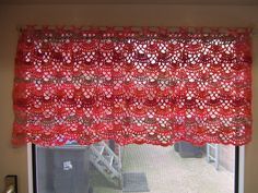My world of crochet: curtain -- free pattern, chart only