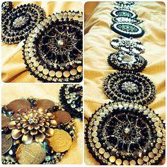 Beautiful medallions. Estilo Tribal, Danza Tribal, Tribal Belly Dance, Tribal Looks, Tribal Style, Tribal Fusion, Belly Dance Belt, Tribal Costume, Belly Dance Costumes