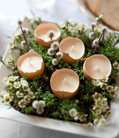Easter Dinner, Easter Brunch, Easter Party, Easter Gift, Easter Crafts, Easter Candle, Easter Table Decorations, Easter Decor, Easter Centerpiece