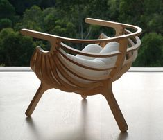 Seashell chair gets nautical inspiration from marine life.