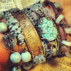 bracelets; Etsy: Narrative, Jewelry by Nina Bagley #women #accessories #jewelry