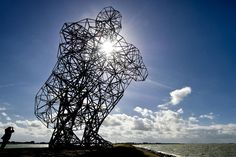 Antony Gormley Lelystad Exposure  Una delle sculture più intricate di Antony Gormley. Un imponente figura umana, accovacciata di 25 metri di altezza nei pressi della città olandese di Lelystad. L'opera, pesa circa 60 tonnellate ed è composta di 5.000 canne di metallo tagliate a mano, ciascuno di lunghezza diversa, e fissata con 14.000 bulloni.