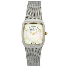 Skagen Women's 396XSGS Crystal Accented Mother of Pearl Mesh Watch Skagen http://www.amazon.com/dp/B000IZAW9Q/ref=cm_sw_r_pi_dp_2Iq-tb1M1Y294