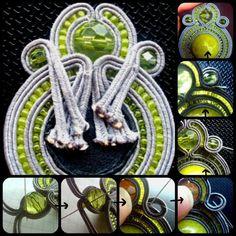 I ♥ soutache tutorial or a few tips on how to create soutache earrings by rhonda white 52206 – Artofit Zipper Jewelry, Heart Jewelry, Shibori, Soutache Tutorial, Soutache Earrings, Beading Tutorials, How To Make Beads, Beaded Embroidery, Fabric Flowers