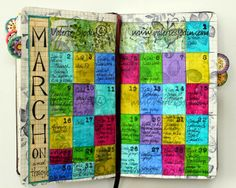 Love the round tabs...want to do this for my documented life journal...fun