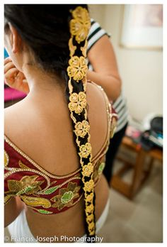 Gold Indian Hair Jewelry in Braid