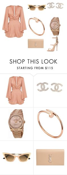 """""""Untitled #423"""" by youngandrich on Polyvore featuring Chanel, Rolex, Cartier, Christian Roth, Yves Saint Laurent and Giuseppe Zanotti"""