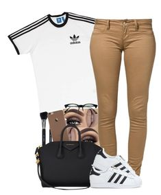 """(170)"" by oneandonly-britbrat ❤ liked on Polyvore featuring Sigma Beauty, adidas, Monkee Genes, Givenchy and Retrò"
