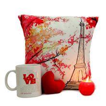 A Good Gift For Fiance Female Love Mug N Cushion Birthday