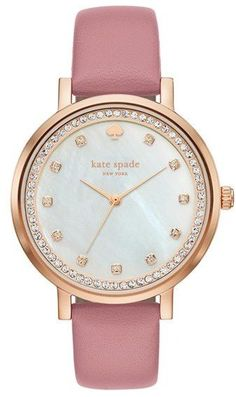 Kate Spade New York 'monterey' Leather Strap Watch, 38mm