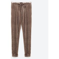 VELVET JOGGING TROUSERS - TROUSERS-TRF | ZARA United States (€46) ❤ liked on Polyvore featuring activewear, activewear pants and zara