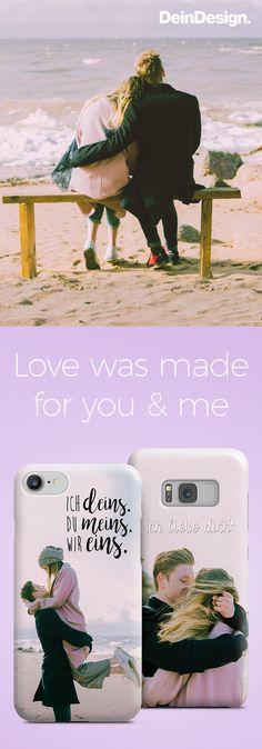 Valentinstag // selbst gemachte und persönliche Geschenkidee // DIY // Handyhülle // selbst gestalten // Geschenk für Sie // Geschenk für Ihn // Love Quote // by DeinDesign.
