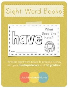 *FREEBIE!!!* Keep checking my store for more freebies!Here is a sight word book for you to practice fluency with your Kindergarteners or 1st Graders!Includes:- 10 page easy reader book- Sight Word practice page within the bookEnjoy!