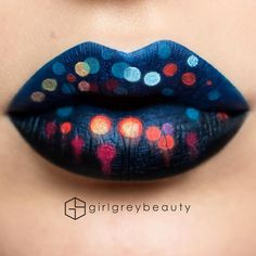 """""""#Bokeh #LipArt   Using liquid lipsticks from @anastasiabeverlyhills and @jeffreestarcosmetics, and the @makeupforeverofficial flash palette.""""  *Click Pic for Makeup Details* (Pic: @girlgreybeauty)"""