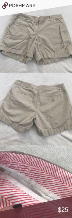"""J Crew Light Broken-In Khaki Chino Shorts 13"""" length 4.5"""" inseam. Single back button closure on pocket. Broken in khaki chino shorts. Excellent condition. Bundle 2+ items for a discount. J. Crew Shorts"""