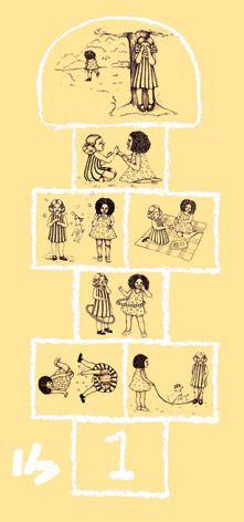 Hopscotch by Sheila Bridges Design Wallpaper Decor, Kids Wallpaper, Girl Room, Girls Bedroom, Childhood Games, Hopscotch, Nursery Room, Surface Design, Etsy Store