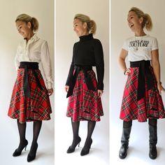 Wickelrock aus echtem Schottenkaro - vielseitig zu stylen www.mariewagner.online Midi Skirt, Floral, Skirts, Shopping, Fashion, Moda, Midi Skirts, Fashion Styles, Skirt