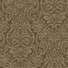 One Allium Way® This sophisticated wallpaper is a beautiful statement piece for your home!  A golden tan backdrop is overlaid with a damask pattern with rich, botanical influences. Color: Brown