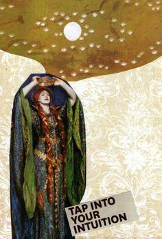 High Priestess tarot collage