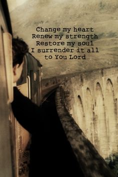 I surrender it all to Him...