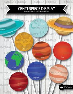 space party supplies solar system cutouts 10 pack birthday